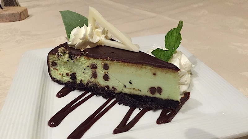 Chocolate-Mint Cheese Cake